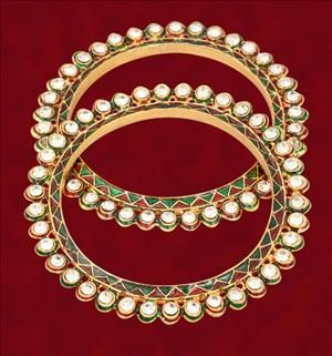 Buy Jewellery Jodhaa Akbar Ethnic Kada(pair) online