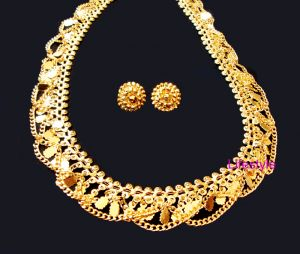 Buy 22 CRT Gold Forming Heavy Ethnic Necklace Cum Kamar Patti online