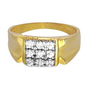 Buy Pure Heavy Cz Diamond Ring For Men..exclusively For Your Valentine online