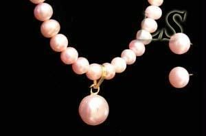Buy Delicate Pink Fresh Water Pearl Set online