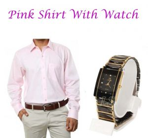 Buy Pink Shirt With Watch....117 online