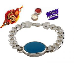 Buy Rakhi Gifts....lucky Salman Khan Style Turquoise Bracelet For Your Brother online