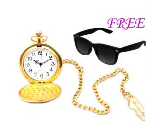 Buy Free Sun Glasses With Stylish Watch For Men online