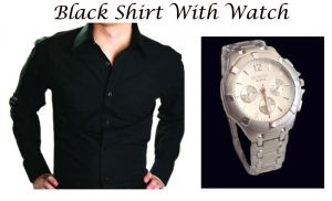 Buy Black Shirt With Watch -csdcs online