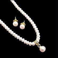 Buy Elegant Evergreen Fresh Water Pearl Set online