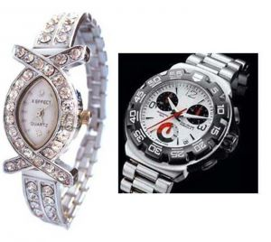 Buy Buy 1 Get 1 Free- Stylish Wrist Watches 41 online