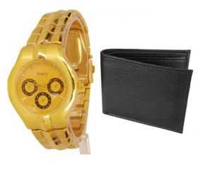 Buy Buy 1 Wrist Watch And Get A Wallet Free Wallwatch9 online