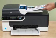 buy new hp officejet j4580 all in one printer online best prices rh shopping rediff com HP J4540 HP J4500