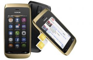 Nokia Asha 308 Mobile Phone (Black)