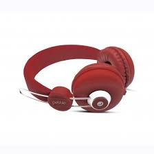 Buy Pebble Curve Stereo HD Sound Headphone Red online
