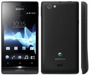 Sony Xperia ST23i MIRO Mobile Phone (Black)