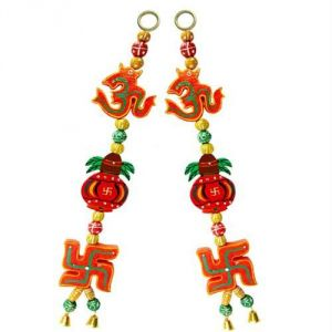 Buy Beautiful Wall Hanging With Om ,kalash And Swastik online