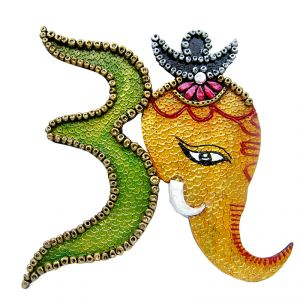 Buy Ganesha With Omm Wall Hanging online