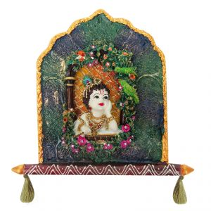 Buy Krishna Jharokaha Door Wall Hanging online