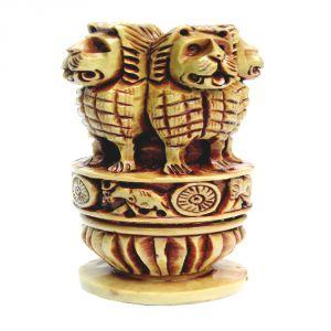 Buy Beautiful Resin Ashoka Pillar Handmade Indian Emblem For Home Decor Online