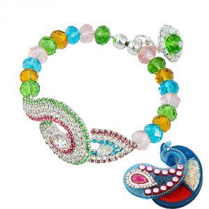 Buy Rakshabandhan Gorgeous Bracelet Design Lumba Rakhi For Bhabhi online