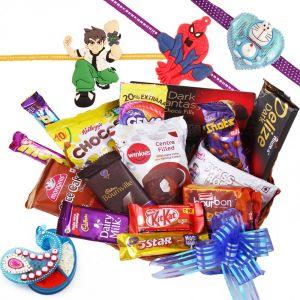 Buy Rakshabandhan Kids Rakhi Hamper With All Yummy Chocolates online