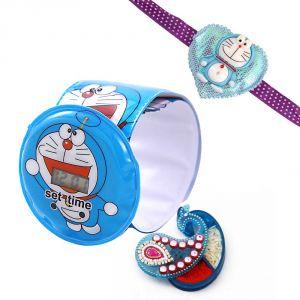 Buy Rakshabandhan Kids Rakhi Hamper Wrist Watch Band online