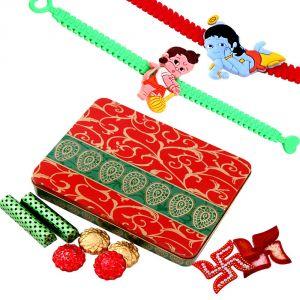 Buy Rakshabandhan Kids Rakhi Hamper With Chocolates N Rakhi Band online