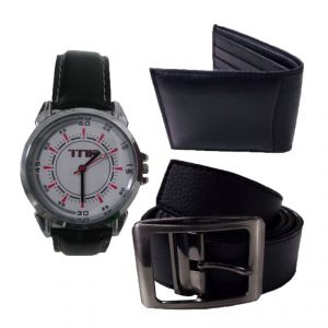 Buy Tnf Belt Wallet And Watch Combo online
