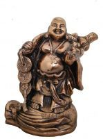 Buy Divya Mantra Feng Shui Heavy Premium Big 17 Inches Laughing Buddha In Coppe online