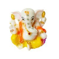 Buy Ganesha Sitting On A Lotus Statue By Returnfavors online