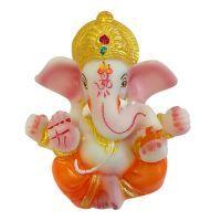 Buy Golden Color Pagdi Jai Ganesha Statue By Returnfavors online