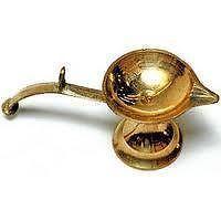 Buy Brass One Faced Aarti Diya With Handle Puja Lamps Deepak Diya Brass Diya online