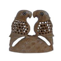 Buy Fine Carved Wood Parrot Pair Handicraft Gift online