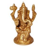 Buy Real Brass Antique Lord Ganesha Beautiful Idol online