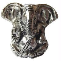 Buy Supakana Ganesha In White Metal online