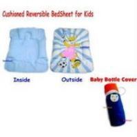Buy Cushioned Reversible Bed Sheet Baby Bottle Cover online
