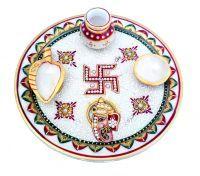 Buy Ganesh Marble Puja Thali online