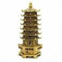 Buy Education Tower Brass Colour Feng Shui Vastu Astrology Pagoda online