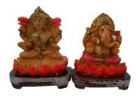 Buy Gci Marble Beautiful Colorful Laxmi Ganesh Idol online