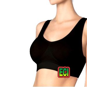 Buy Eci - Premium Free Size Black Stretchable Aire Bra Air Slim N Lift Seamless online