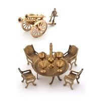 Buy Buy Brass Dining Raja Set N Get Brass Canon Free online