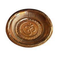 Buy Om Copper Pooja Plate 18 Cm - ( Code - Anjapuja25 ) online