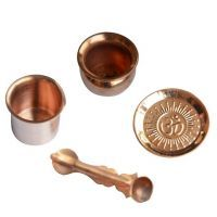 Buy Copper Puja Items Combo Of 4 Pieces - ( Code - Anjpujco02 ) online