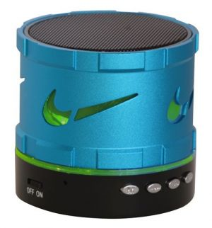 Buy Adcom Mini Bluetooth Speaker With Colorful LED Lights-blue (with Manufacturer Warranty) online