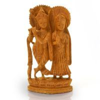 Buy Ethnic Lord Radha Krishan Idol Wood Handicraft 148 online