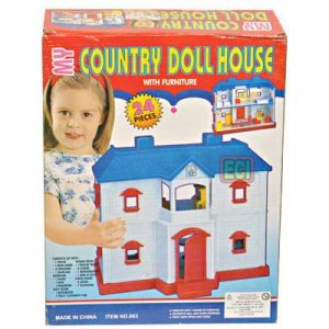 Buy 24pcs Country Doll House Full Home & Furniture Toy online