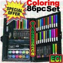 Buy 86 Pieces Coloring Set Of Crayons Online   Best Prices in ...