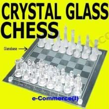 Buy Crystal Clear Glass Chess Decorative Set !!!!! online