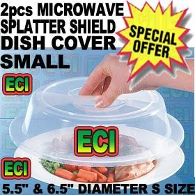 2pcs Microwave Splatter Shield Dish Plate Cover Online