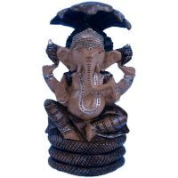 Buy Sunshine Rajasthan Colorful Painted Lord Ganesha Seated Sheshnaag online