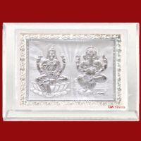 Buy Gifts Ganesha Pure Silver Frames-pure Silver Laxmi Ganesh Frame- Slm 31 online