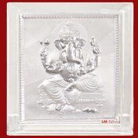 Buy Gifts Ganesha Pure Silver Frames-pure Silver Ganesh Frame- Slm 34 online