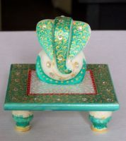 Buy Marble Ganesha With Chauki online