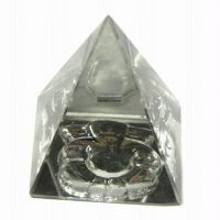 Buy New Glass Pyramid With Ganesha Engraved On Bottom online